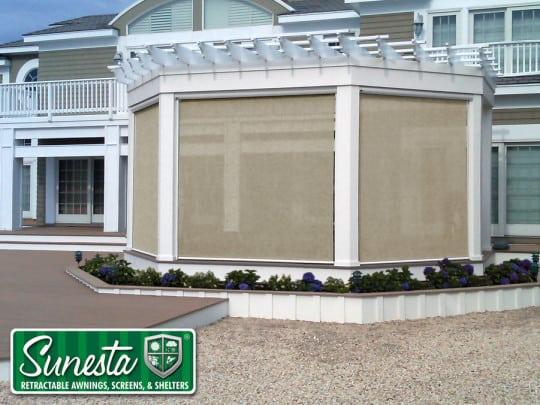Retractable wall in exterior designs