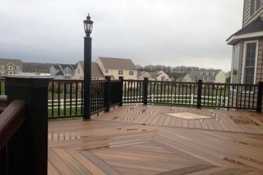 Bucks County custom deck construction