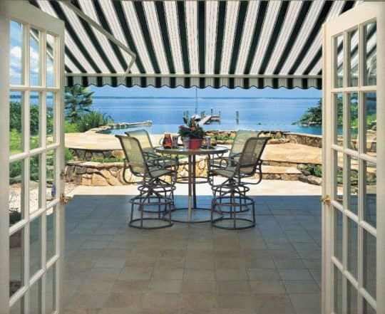 contemporary retractable awnings