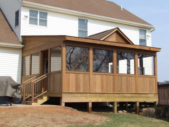 turning a deck into a sunroom