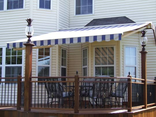 Blue White Deck Awning